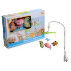 Детская каруселька,механическая с мягкими игрушками.
