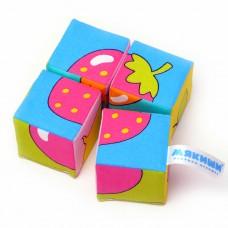 "Игрушка кубики ""Собери картинку"" (Ягоды,Фрукты,Овощи)"