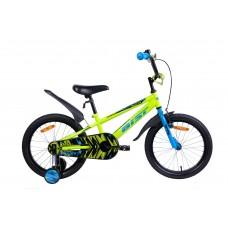 Велосипед двухколесный для детей Aist PLUTO 18 желтый 2020
