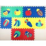 """Коврики-пазлы с овощами и фруктами (10 шт.), 12"""",1016"""