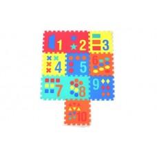 """Коврики-пазлы с цифрами и формами (10 шт.), 12"""",1022"""