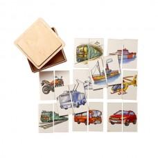 Транспорт Картинки-половинки