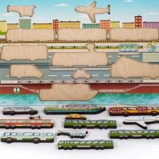 Городской транспорт Развивающая доска