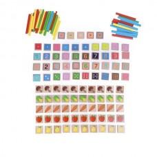 Арифметический счет (135 элементов, 40 счетных цветных палочек)