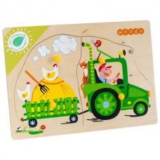 Тракторист Игрушка деревянная с товарным знаком ВУДИ