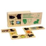 Тени домино в деревянной коробке