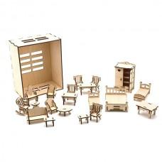 Набор мебели в деревянной коробке