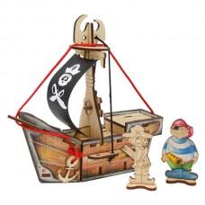 Пиратский корабль КАРАМБА Игрушка деревянная с товарным знаком ВУДИ
