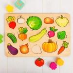 Овощи Развивающая доска большая