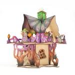 Замок колдуньи Игрушка деревянная с товарным знаком ВУДИ