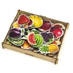 Овощи, фрукты, ягоды Пазл-набор (деревянная коробка)