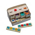Волшебный комодик. Пуговки. Логическая игра. Игрушка деревянная развивающая. арт DG-А024-ANT