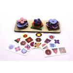 Геометрический сортер, Логическая игра. Игрушка деревянная развивающая. арт. DG-Л001-ANT