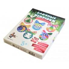 Набор для творчества. Елочные игрушки своими руками (12 фигурок,6 красок) арт.02669