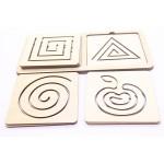 Линейки для рисования двумя руками,Логическая игра. Игрушка деревянная развивающая. арт. DG-Л007-ANT