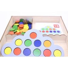 Умное облачко, Логическая игра. Игрушка деревянная развивающая. арт. DG-А023-ANT