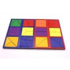 Игрушка деревянная развивающая Логическая игра Сложи Квадрат. Уровень сложности 1, арт. DG-Н001-ANT