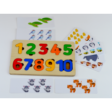 Рамка вкладыш Цифры с карточками, арт. RK1118