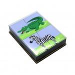 Игрушка деревянная развивающая Логическая игра Чей хвост, арт. DG-Л011-ANT