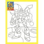 Раскраска со стразами 19х26 см. Супер робот. Арт. Р-8358