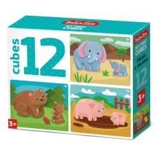 "Кубики ""Мама и малыш"" (без обклейки) 12 шт BABY TOYS, арт. 03537"