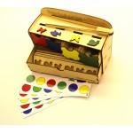 Волшебный комодик с пинцетом, Логическая игра. Игрушка деревянная развивающая. арт. DG-Л006-ANT