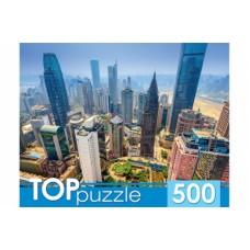 TOPpuzzle. ПАЗЛЫ 500 элементов. ГИТП500-4206 ГОРОДСКИЕ НЕБОСКРЕБЫ