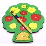 Собираем урожай, Игра с магнитами. Игрушка деревянная развивающая. арт. DG-П709-ANT