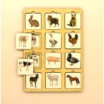 Логическая игра Секретики Ферма, Игрушка деревянная развивающая. арт. DG-П202-ANT