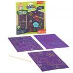 Набор для творчества BONDIBON. Цветная гравюра ( цветочная поляна + животные + морские обитатели)