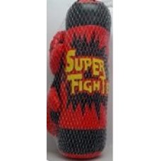 Боксерская груша с перчатками.