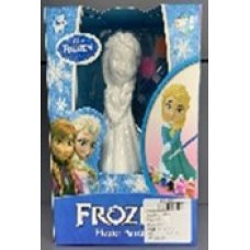 """Гипсовая кукла""""FROZEN""""с набором красок для разукрашивания."""