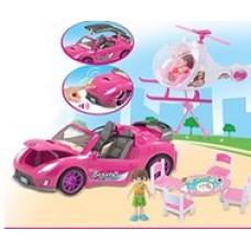 Кукольный автомобиль с вертолетом