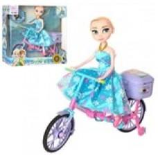 """Кукла""""Эльза"""" на велосипеде"""